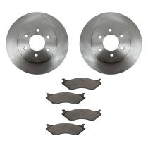2003 Dodge Durango Front Brake Pad & Rotor Kit Ceramic