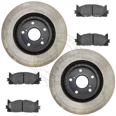 toyota camry brake pad rotor kit am autoparts. Black Bedroom Furniture Sets. Home Design Ideas