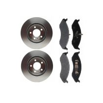 1990 - 1998 Jeep Cherokee   Front Brake Pad & Rotor Kit SEMI-METALLIC for 4WD Models (Raybestos)