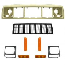 1997 - 2001 Jeep Cherokee   Black Grille, Header Panel, & Light Kit