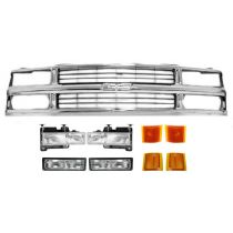 1994 - 1998 Chevy K1500 Truck  Composite Headlight and Grille Kit for Models with Composite Headlights
