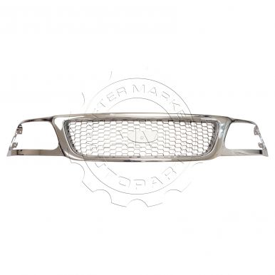 1999 - 2003 Ford F150 Truck Black Honeycomb with Chrome Trim Grille