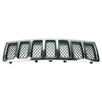 2008 - 2010 Jeep Grand Cherokee Chrome with Black Mesh Grille