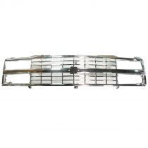 1990 - 1993 Chevy 1500 Pickup Truck 100% ALL CHROME Grille (Grill) (with Composite Headlights)
