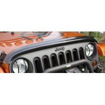 2007 - 2014 Jeep Wrangler Smoked Style Hood Air Deflector