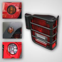 2007 - 2014 Jeep Wrangler Black Euro Guard Light Protector Kit (8 Piece) (Rugged Ridge)