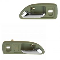 1994 - 1997 Honda Accord 4 Door Chrome & Beige Interior Door Handle for Models with Power Locks Front Pair