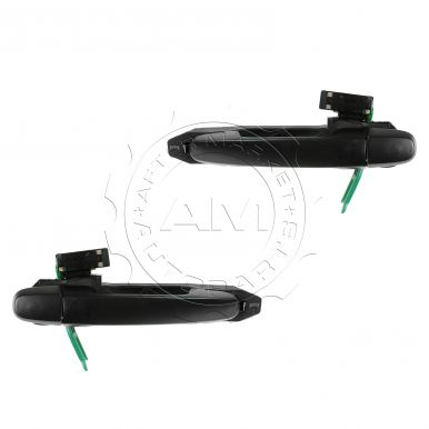 2003 - 2008 Pontiac Vibe Textured Black Exterior Door Handle & Frame Rear Pair