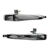 2005 - 2010 Chrysler 300C Chrome Exterior Door Handle for Models with Keyless Entry Rear Pair