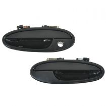 2001 - 2003 Olds Aurora Exterior Door Handle Smooth Black Front Pair