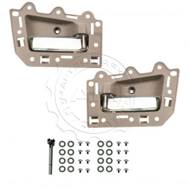2005 2010 jeep grand cherokee beige chrome inside door handle kit rear pair 2005 jeep grand cherokee interior door handle replacement