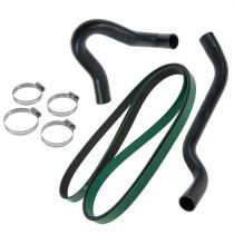 1999 - 2000 Ford F250 Truck Accessory Belt & Radiator Hose Solutions Kit for V8 7.3L Diesel (Gates)