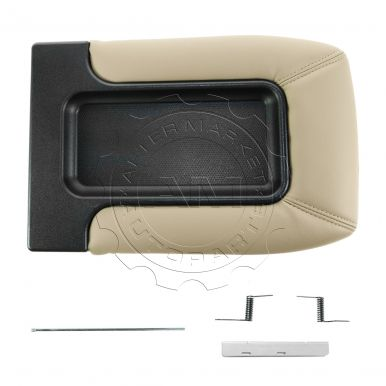 2002 - 2006 Cadillac Escalade Tan Console Lid Repair Kit for Models with Front Split Bench Seat