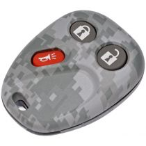 2002 - 2007 Saturn Vue Green Camouflage Keyless Remote Insert & Case for Models with FCC ID LHJ011 or FCC ID MYT3X6898B (Dorman)
