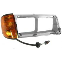 1990 - 1996 Freightliner FLD 120 Chrome Headlight Bezel with Parking Light Passenger Side
