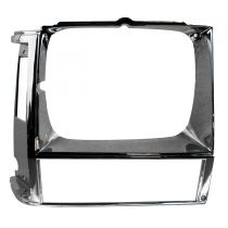 1984 - 1990 Jeep Cherokee Passenger Side Headlight Bezel Chrome