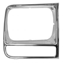 1997 - 2001 Jeep Cherokee Headlight Bezel Chrome Passenger Side