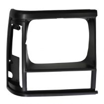 1991 - 1992 Jeep Cherokee  Headlight Trim Bezel Black (without Sport Package) Passenger Side