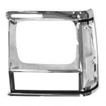 1991 - 1992 Jeep Cherokee Headlight Bezel Chrome Driver Side (without Sport Package)