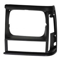 1991 - 1992 Jeep Cherokee Headlight Bezel Driver Side Black (without Sport Package)