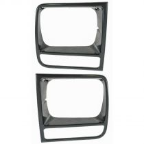 1997 - 2001 Jeep Cherokee   Black Headlight Bezel Pair