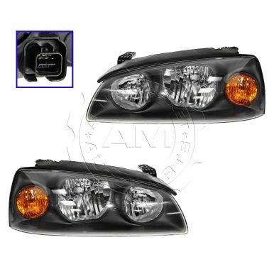 2004 - 2006 Hyundai Elantra Headlight Pair