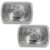 1980 - 1992 Toyota Corolla Sealed Beam Headlight Rectangle Dual Beam Pair