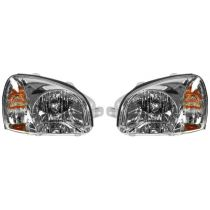 2003 Hyundai Santa Fe (Built Before 3/03/03 Production Date) Headlight Pair
