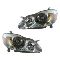 2003 - 2004 Toyota Corolla   S Headlight Pair