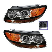 2007 Hyundai Santa Fe Headlight Pair (Built After 7/11/07 Production Date)