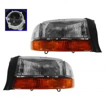 1997 - 2004 Dodge Dakota Headlight with Cornering Lamp Pair