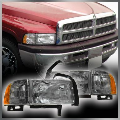 1994-98 Dodge Ram 1500 Truck Headlight With Cornering Lam...