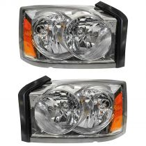 2005 - 2007 Dodge Dakota Headlight Pair