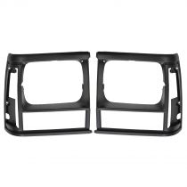 1991 - 1992 Jeep Cherokee  Headlight Bezel Pair Black (without Sport Package)