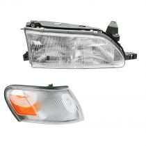 1993 Toyota Corolla 2WD Headlight and Corner Light Kit Passenger Side