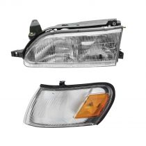 1993 Toyota Corolla 2WD Headlight and Corner Light Kit Driver Side