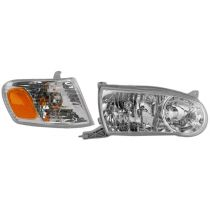 2001 - 2002 Toyota Corolla  Headlight and Corner Light Kit Passenger Side