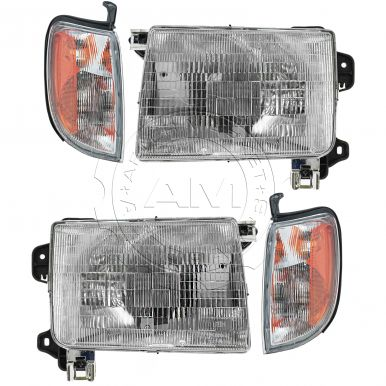 nissan xterra headlight and corner light kit am autoparts. Black Bedroom Furniture Sets. Home Design Ideas