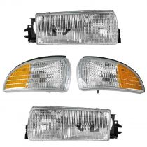 1991 Buick Roadmaster   Headlight and Corner Light Kit (Set of 4) for Models without Cornering Lights