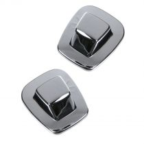1988 - 2000 Chevy C2500 Truck License Plate Light Lens Pair for Models with Chrome Step Bumper