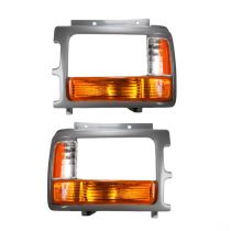1991 - 1996 Dodge Dakota (Paint to Match) Headlight Bezel with Parking Light Pair