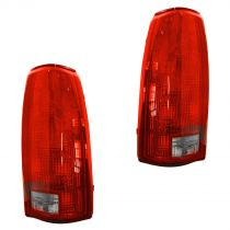 1988 - 2000 Chevy C2500 Truck Tail Light (without Circuit Board) Pair