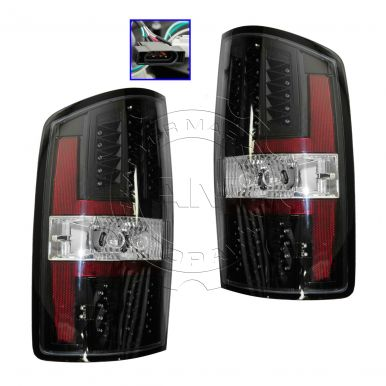 2008 dodge ram 1500 truck performance black bezel led tail light pair. Black Bedroom Furniture Sets. Home Design Ideas
