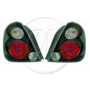2002 - 2006 Nissan Altima Performance Black Bezel Red & Clear LED Tail Light Pair