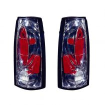 1999 - 2000 Chevy C2500 Truck Performance Chrome Bezel Tail Light for Classic Models Pair