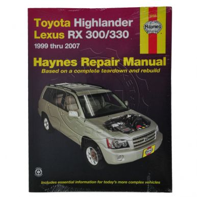 1999 - 2003 Lexus RX300 Haynes Repair Manual