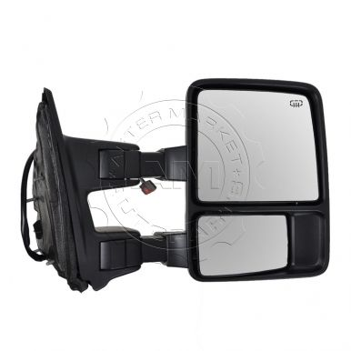 Ford F250 Truck Super Duty Power Heated Black Textured Towing Mirror ...