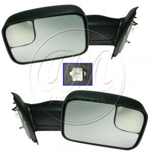 2002-08 Dodge Ram 1500 Truck Mirror Power Heated Towing Pair