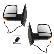 2008 - 2012 Chevy Van   Power Heated Turn Signal Textured Mirror Pair