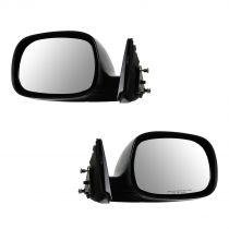 2000 - 2006 Toyota Tundra   Black Textured Manual Mirror Pair